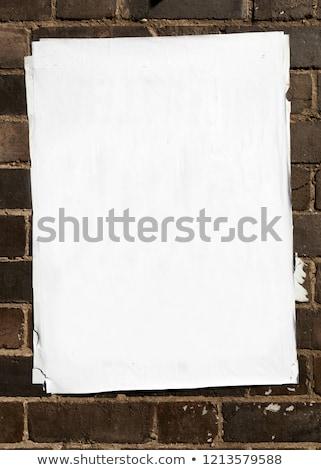 Sok rétegek papír poszter utca fal Stock fotó © stevanovicigor