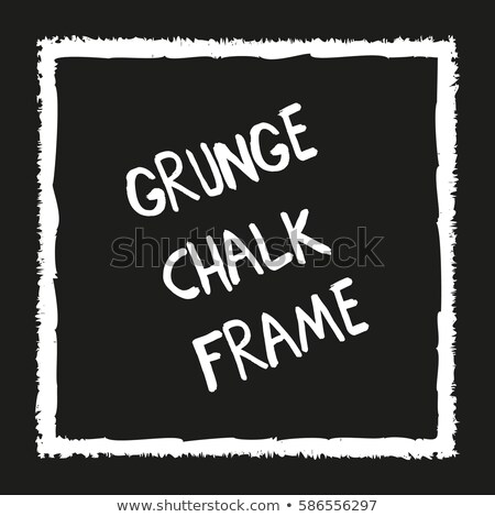 grunge · carré · main · peint · craie · colorie - photo stock © pakete