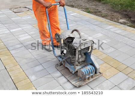 Benzina diesel piatto concrete mattone marciapiede Foto d'archivio © simazoran