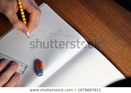 Pythagorean theorem, math class in the school Stock photo © stevanovicigor