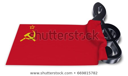clef and flag of the soviet union - 3d rendering Stock photo © drizzd
