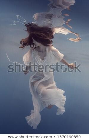 女性 水 白いドレス ポーズ カメラ 女性 ストックフォト © tekso