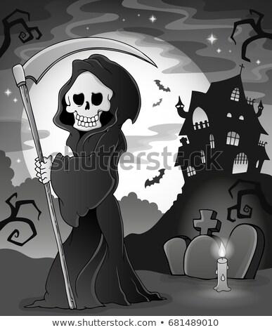 Black and white grim reaper theme 1 Stock photo © clairev