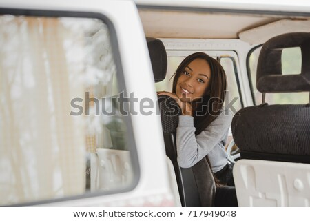 african american girl in minivan Stock photo © LightFieldStudios
