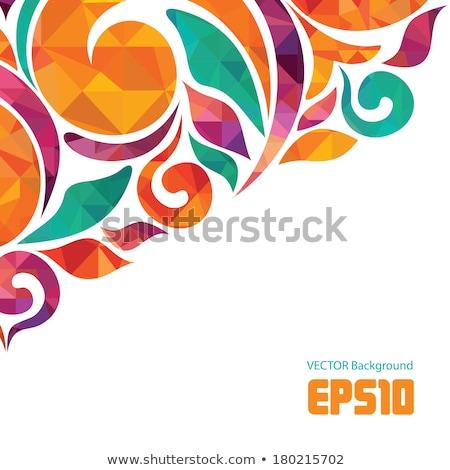 Absztrakt művészi kreatív szivárvány virágmintás textúra Stock fotó © pathakdesigner