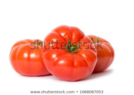 Biftek sos salata beyaz plaka gıda Stok fotoğraf © sveter