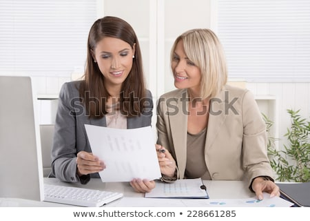 A portrait of a junior office worker stock photo © IS2