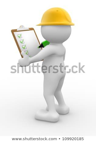 Clipboard with Business Communications. 3D. Stock photo © tashatuvango