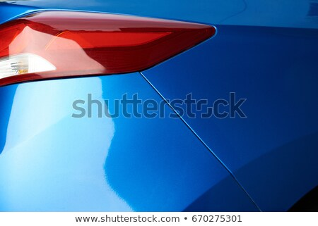 Moder red rear light of a blue car Stock photo © blasbike