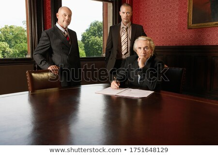 A portrait of three businesspeople Stock photo © IS2