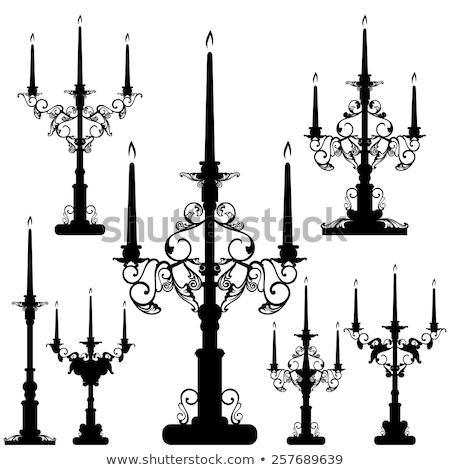 maison · lumière · silhouettes · éclairage · vecteur · simple - photo stock © elak