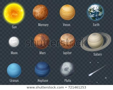 Солнечная · система · ночь · планеты · луна · земле - Сток-фото © nasa_images
