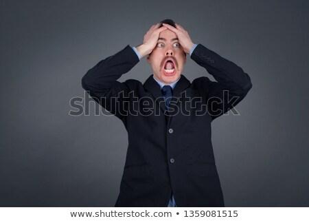üzletember kezek fej üzlet férfi közelkép Stock fotó © IS2