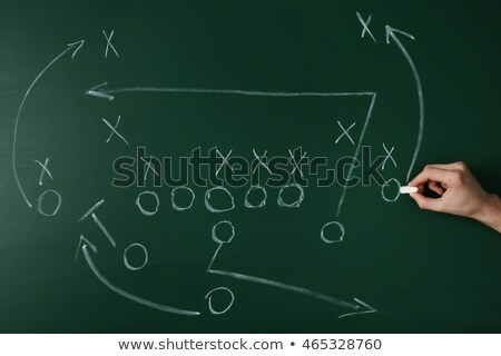 Hand Drawn Coaching on Green Chalkboard. Stock photo © tashatuvango