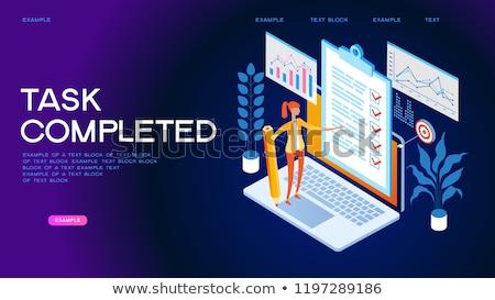 Stock fotó: Vágólap · 3D · szöveg · irodaszerek · asztal · renderelt · kép