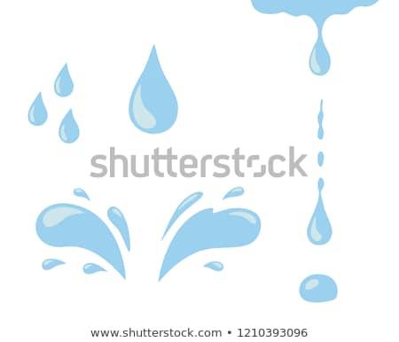 Blu abstract goccia d'acqua pioggia segno energia Foto d'archivio © gladiolus