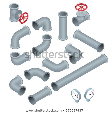 Industriële fabriek pijpen isometrische 3D element Stockfoto © studioworkstock