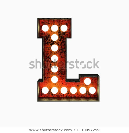 Letter l 3D broadway stijl hoog kwaliteit Stockfoto © creisinger