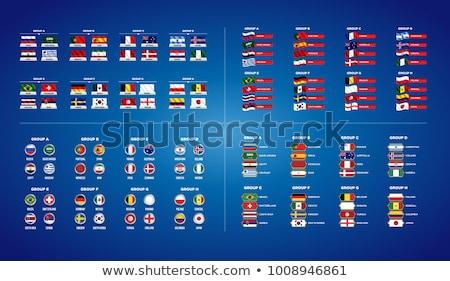 Fútbol mundo campeonato establecer banderas grupo Foto stock © orensila