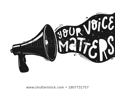 Spreker megafoon verkoop tekst witte Stockfoto © studiostoks
