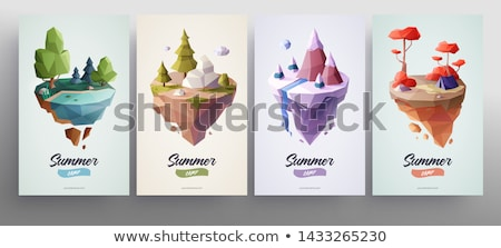 Green White Low Poly Vector Background Stock photo © Dreamframer