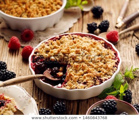 delicious berry crumble Stock photo © M-studio