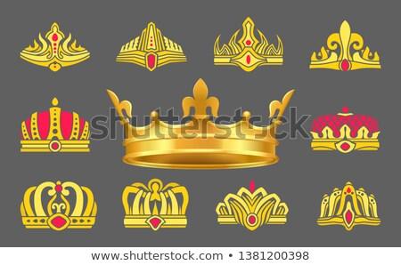 altın · gümüş · dekore · edilmiş · mücevherleri · mavi · boyama - stok fotoğraf © robuart