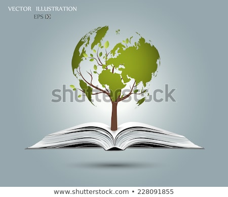 Open book map of planet Earth. Vector illustration Stock photo © MaryValery