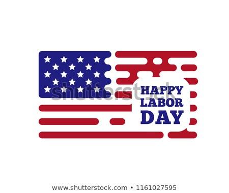 Glücklich Geburtswehen Tag Vektor Zeilen USA Stock foto © m_pavlov
