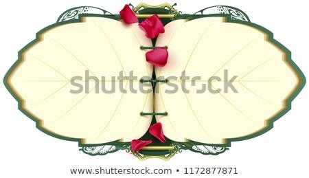 Livre ouvert portable forme feuille arbre pétale Photo stock © orensila