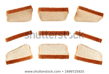 スライス · 白パン · 孤立した · 白 · テクスチャ · パン - ストックフォト © popaukropa