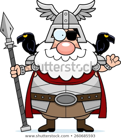 Cartoon Odin Waving Stock photo © cthoman