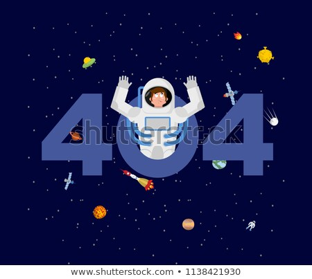 Error 404. astronaut surprise. Page not found template for web s Stock photo © popaukropa