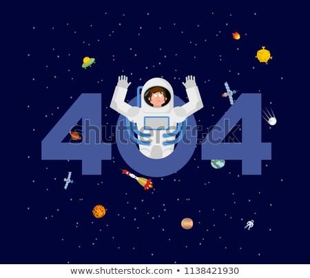 Hiba 404 űrhajós meglepetés oldal nem Stock fotó © popaukropa