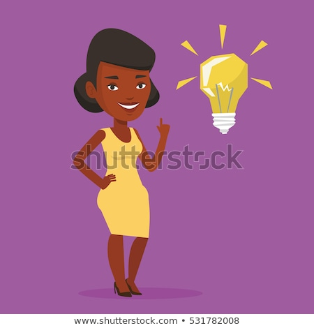 African american business woman pointing with finger vector illustration. Stock photo © RAStudio