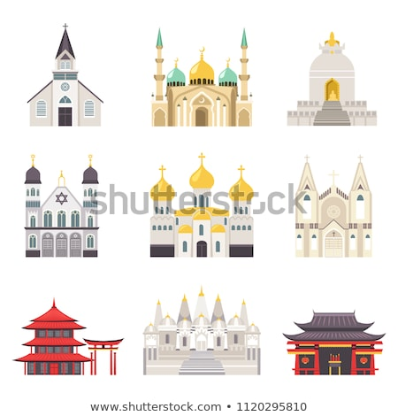Religioso edifícios mundo conjunto Foto stock © robuart