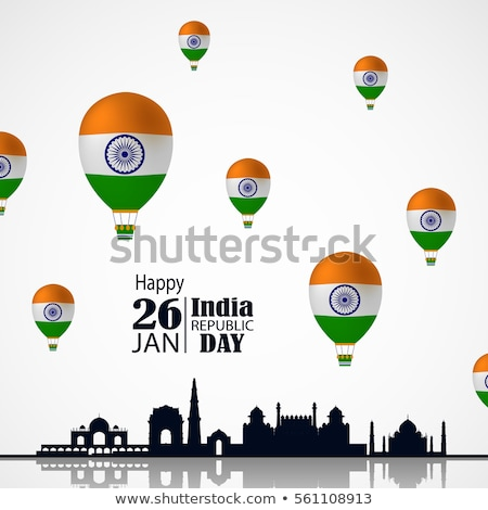 Celebration Card for Independence Day of India with Confetti, 15th of August Stock photo © smeagorl