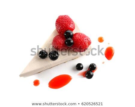 vanille · crème · myrtille · cartoon · style - photo stock © tasipas