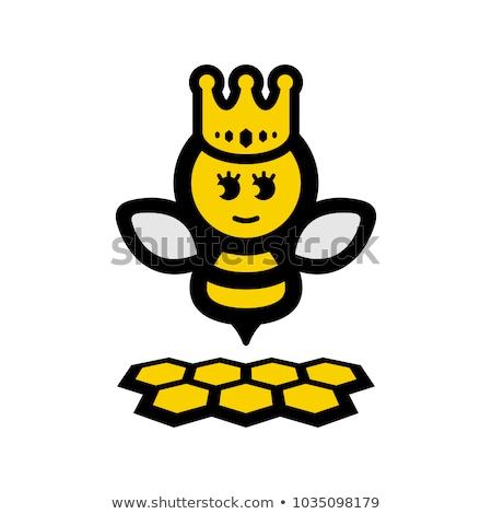 Cartoon sonriendo príncipe abeja corona animales Foto stock © cthoman