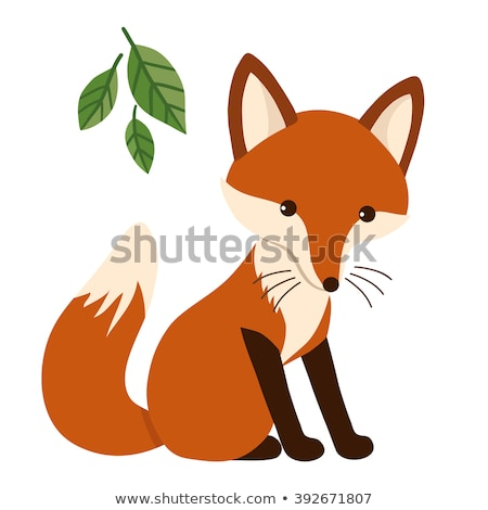 Cartoon Fox amour illustration bébé Photo stock © cthoman