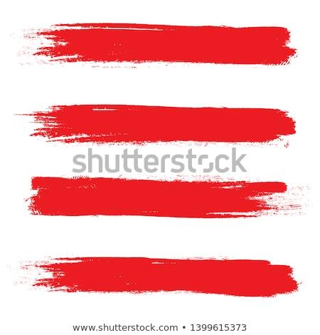Ecset piros festék izolált csepp stúdió Stock fotó © MaryValery