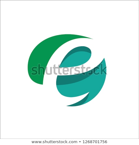 eco green letter e logo vector sign element logotype stock photo © blaskorizov