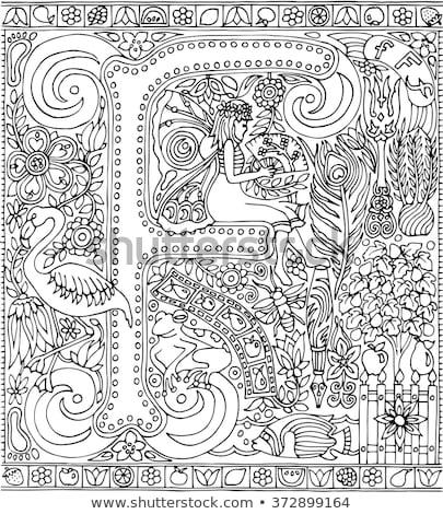 妖精 少女 子供 学校 書く ストックフォト © colematt