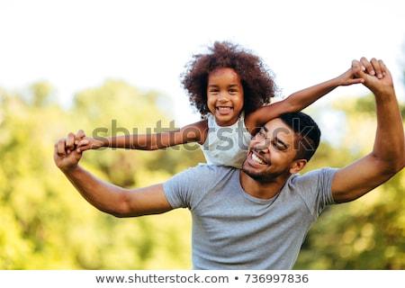 Pessoas felizes jogar parque ilustração natureza criança Foto stock © colematt