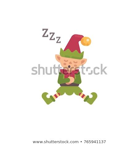Cute Рождества эльф спальный день Дед Мороз Сток-фото © IvanDubovik