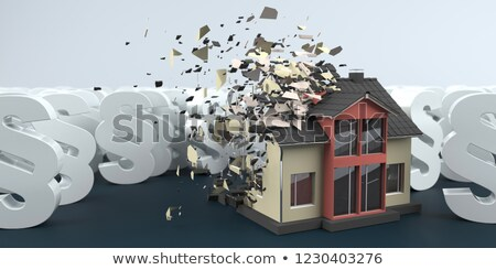Maison blanche table 3d illustration construction maison Photo stock © limbi007
