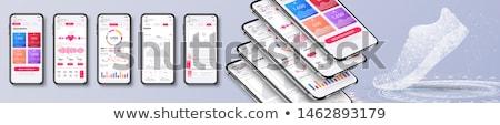 бизнеса тенденция анализ приложение интерфейс шаблон Сток-фото © RAStudio