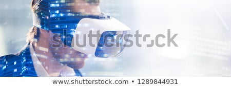 close up of businessman with virtual projection Stock photo © dolgachov