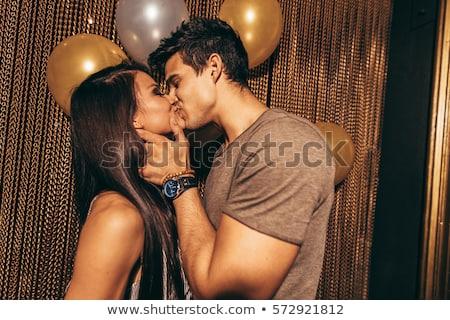 страстный романтические целоваться зеленый Сток-фото © Minervastock