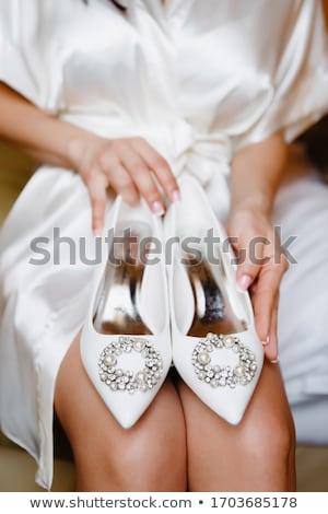Belle mains fille dentelle mariage mode Photo stock © ruslanshramko